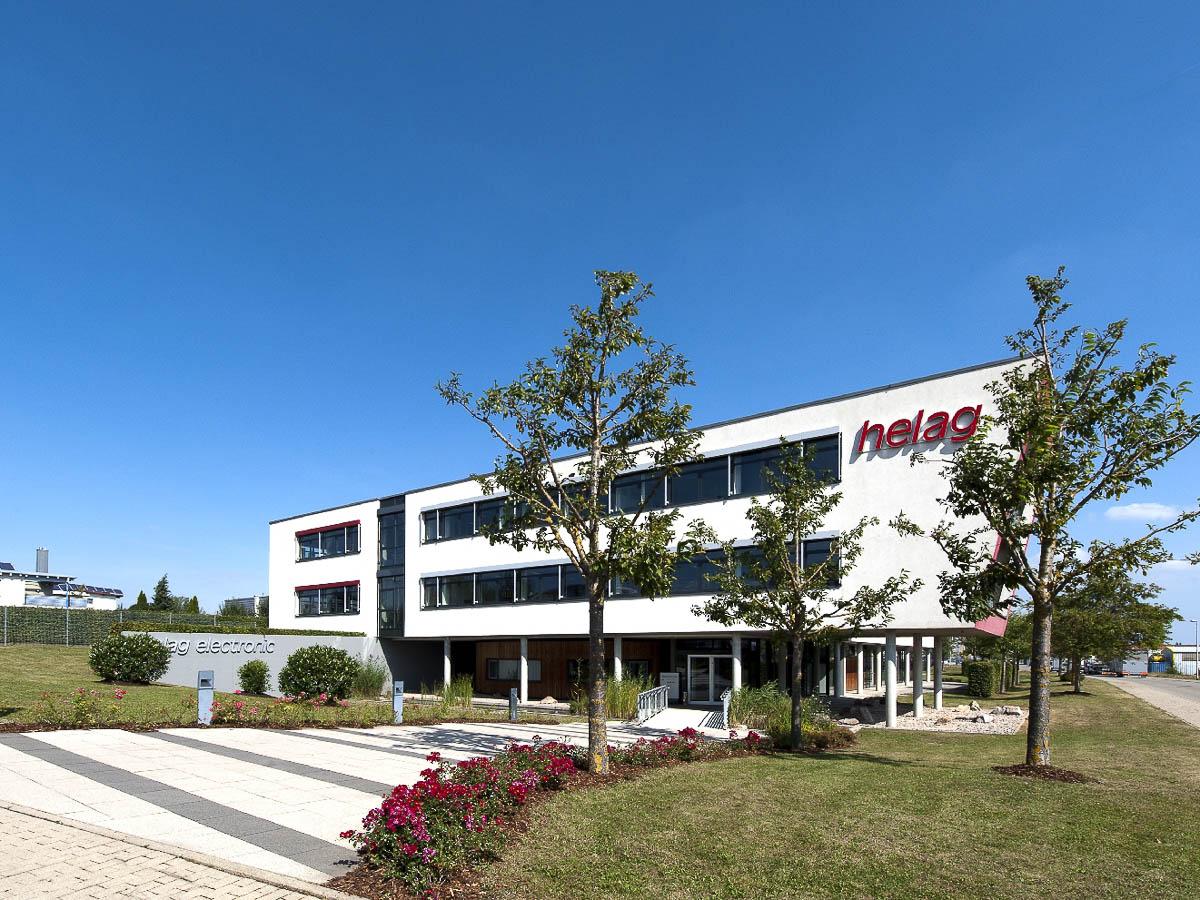 Firmengebäude Seite helag-electronic Nagold Graf-Zeppelin Str