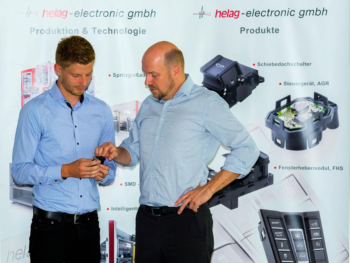 Kompetenzen Meeting Produkt Besprechung helag-electronic