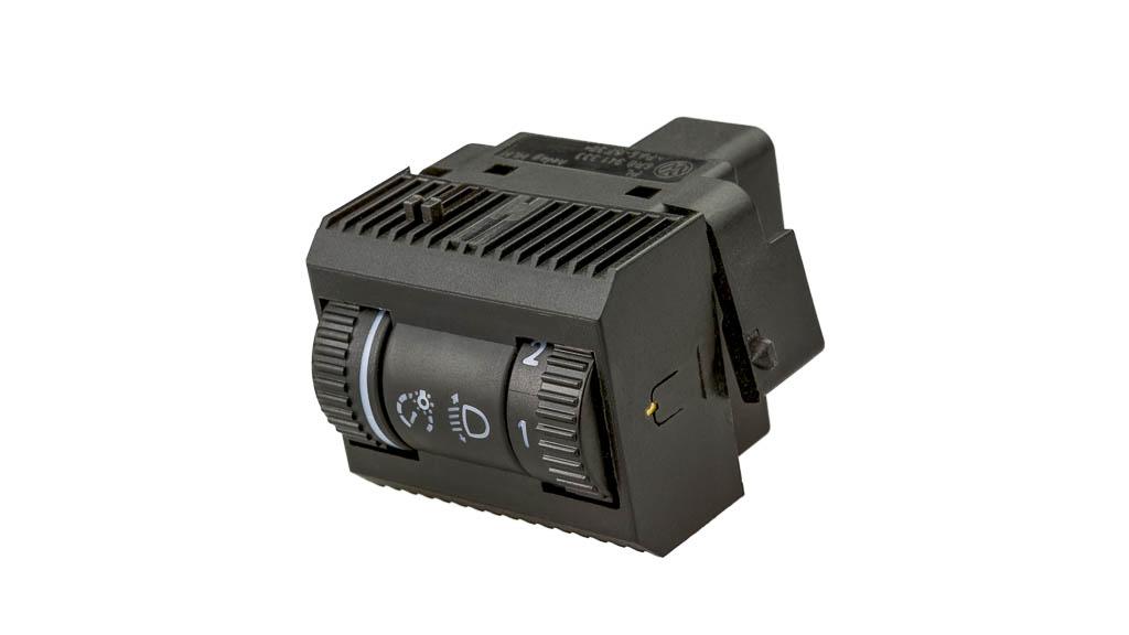 Leuchtweitenregler mit Dimmer Produkt helag-electronic nagold automobilzulieferer