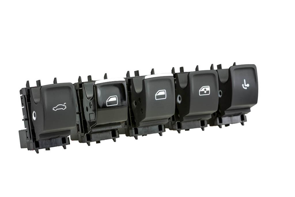 Fensterheberschalter und Wippschalter Produkt der helag-electronic Nagold, Automobilzulieferer
