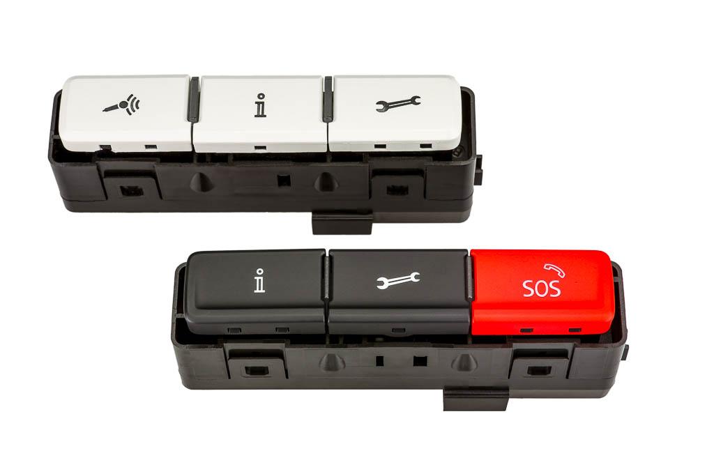 OCU-Bedienteil (on board connectivity unit) Produkt der helag-electronic Nagold, Automobilzulieferer