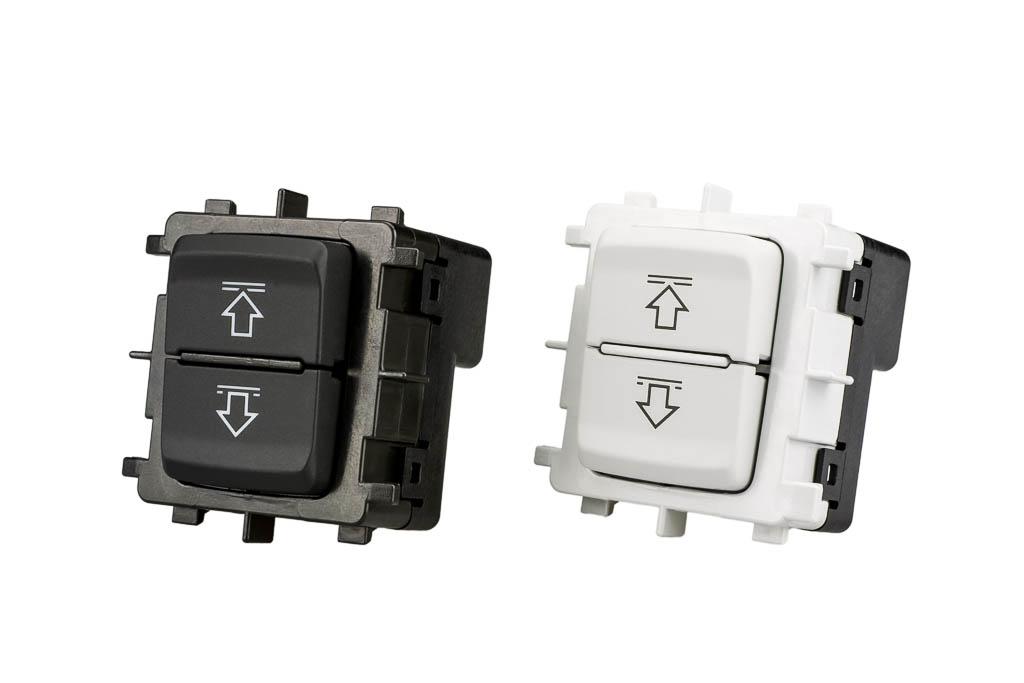 Schalter Sonnenrollo, Produkt der helag-electronic Nagold, Automobilzulieferer