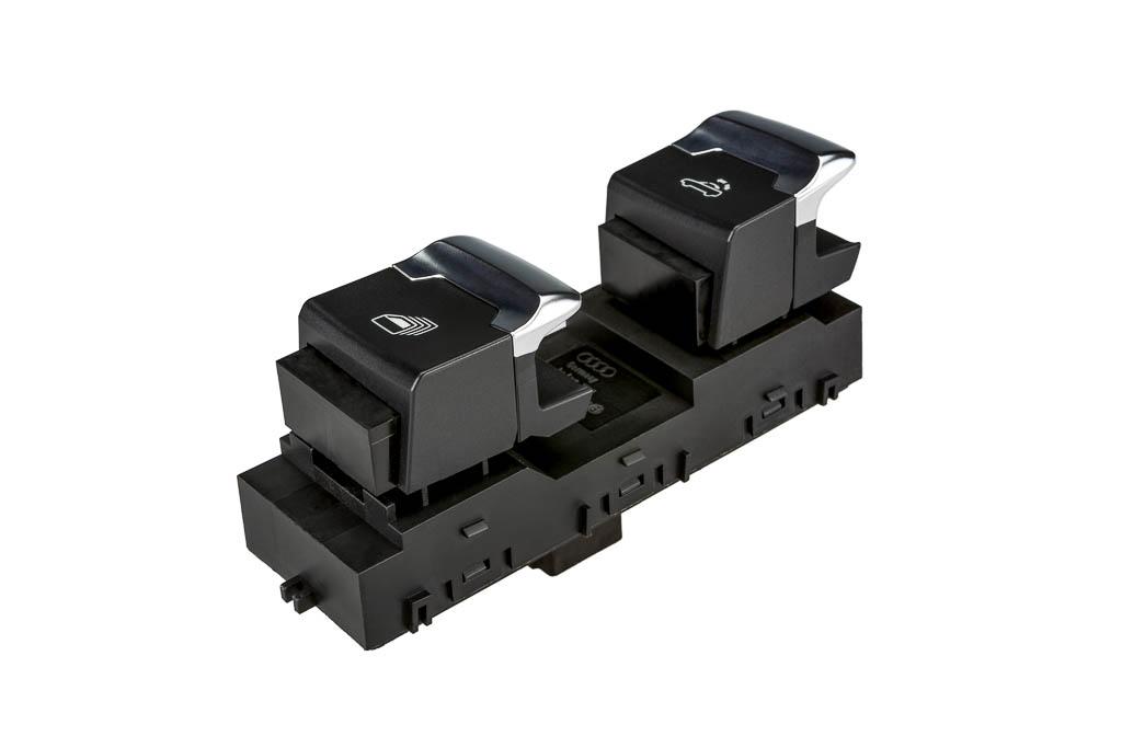 Verdeckschalter zur Steuerung des Fahrzeugverdeckes Produkt der helag-electronic Nagold, Automobilzulieferer