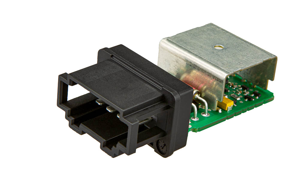 Seat heating control unit open, a product by helag-electronic Nagold, automotive supplier
