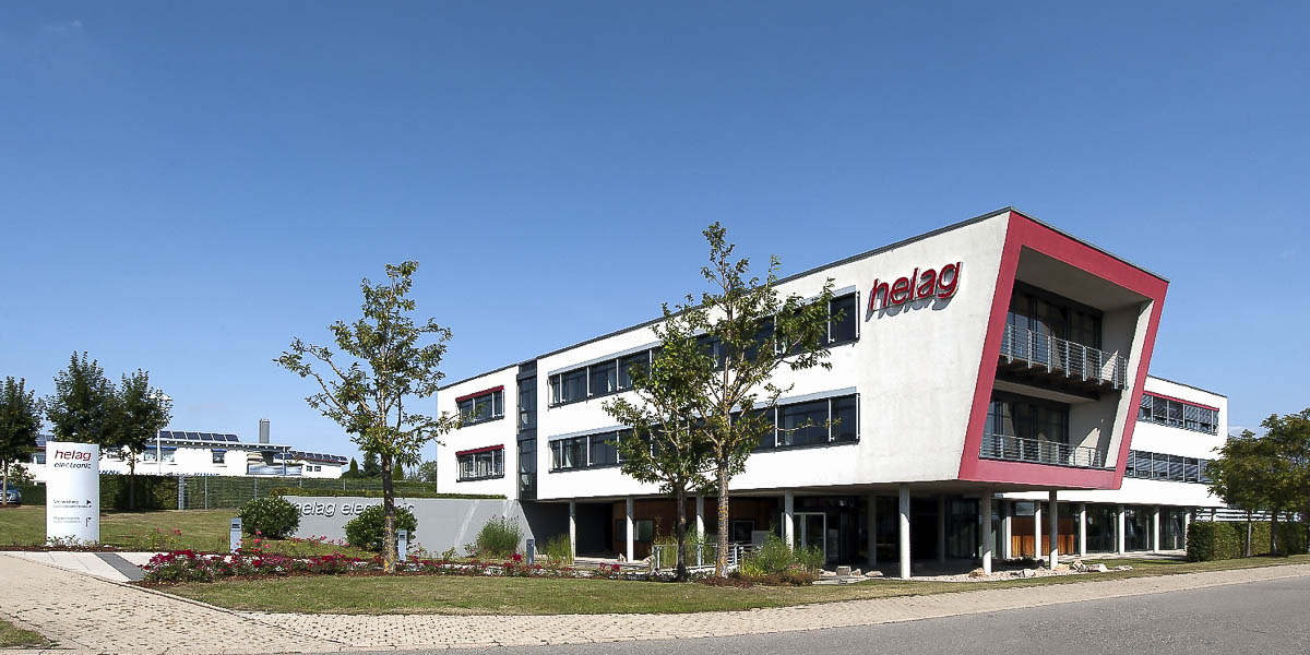 company building of helag-electronic an automotive supplier from Germany, Nagold, Graf-Zeppelin-Str-23