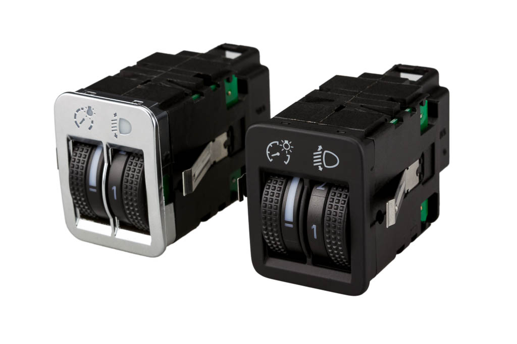 headlamp levelling system with dimmer, a product by helag-electronic Nagold, automotive supplier 14